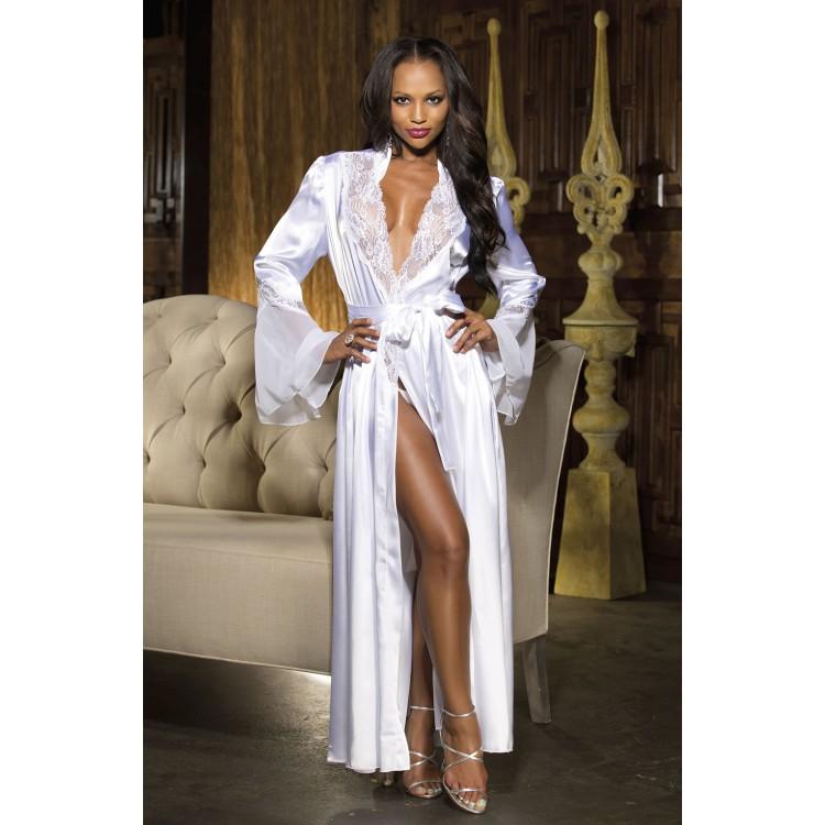 Lace & Chiffon Long Night Robe