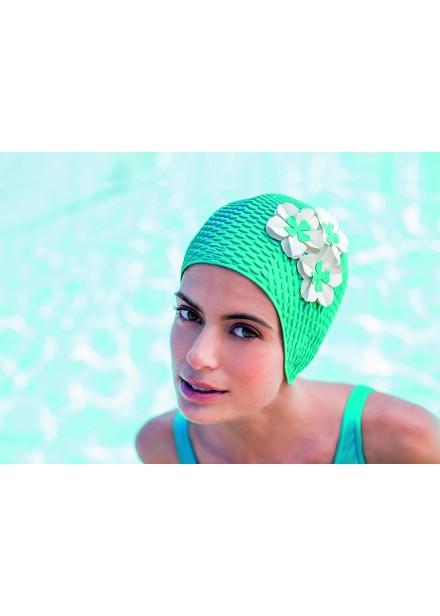 Bubble Swim Cap With Flowers
