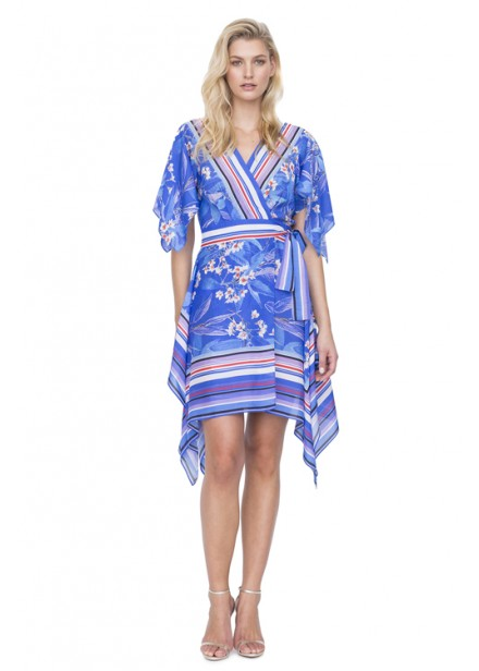 Gottex Sakura Multi Blue Cover Dress