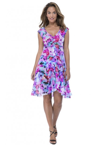 Gottex Profile Pocket Full Of Posies Mesh Dress - Multi