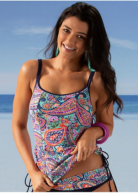 Bohemia Underwired Tankini Top - Multi