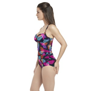 Fantasie Tamlamanca Plunge Tankini With Deep Garthered Brief