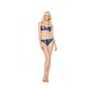 Gottex Macaw Moulded Cup Bandeau Bikini Set