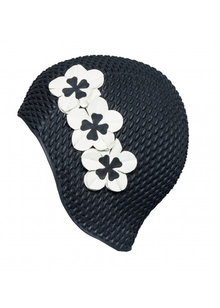Bubble Swim Cap With Flowers