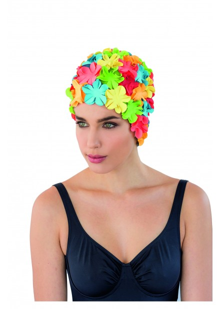 Rubber Petal Swim Cap