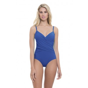 Profile By Gottex Tutti Frutti One Piece Cross Over Swimsuit.