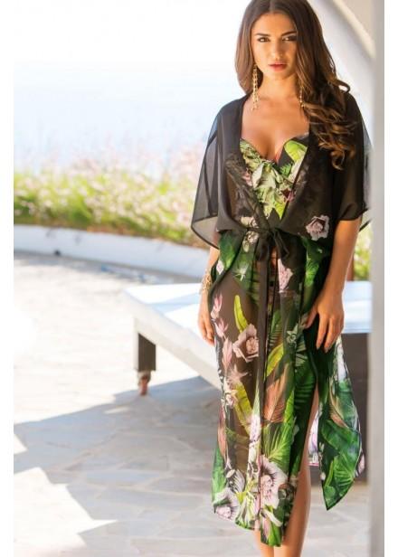 Orchid Luxe Maxi Kimono - Multi