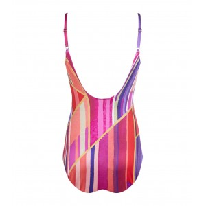Gottex Art Deco Cross Over Swimsuit