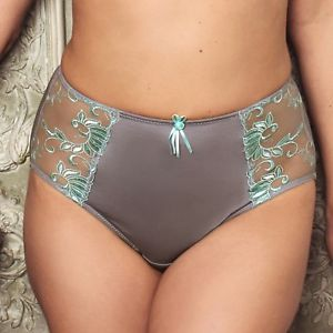 Imogen Rose Embroidered Brief - Silver/Mint