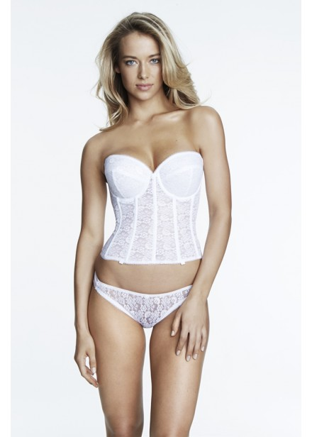 Dominique Lace Low Back Bridal Basque